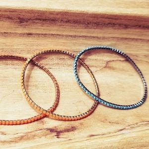 Bracelet set - orange & blue